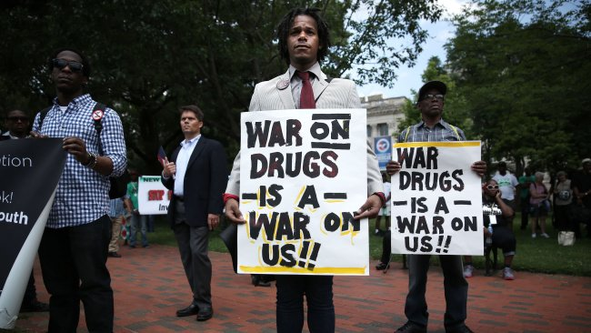 people protext nixons war on drugs